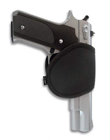 ALBAINOX 22111. Funda riñonera pistola. Cordura. Negra. Sistema cierre de broche. Ajustable mediante velcro Herramienta para Caza, Pesca, Camping, Outdoor, Supervivencia y Bushcraft