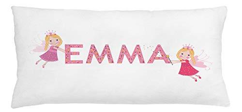 ABAKUHAUS Emma Sierkussensloop, Fairy Princesses, Decoratieve Vierkante Hoes voor Accent Kussen, 90 cm x 40 cm, Veelkleurig