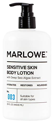 MARLOWE. M BLEND MARLOWE. No. 003 Sensitive Skin Body Lotion 15 oz | Moisturizing Fragrance-Free Natural Lotion for Dry Skin
