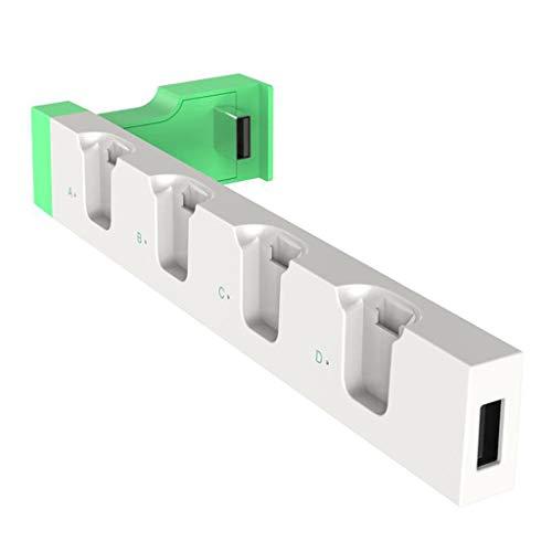 Yoging - Soporte de base de carga de mando de interruptor con luz indicadora luminosa, controlador de juego para consola de juegos NS Switch Joy-con
