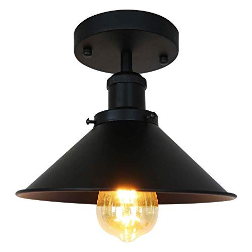 Plafondlamp Vintage Industriële Moderne Zwarte Metalen Plafond Licht voor woonkamer keuken gang E27