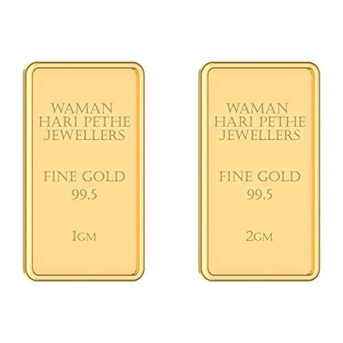 WHP Jewellers 24k (995) 3 gm Combo(2gm+1gm) Yellow Gold Bar