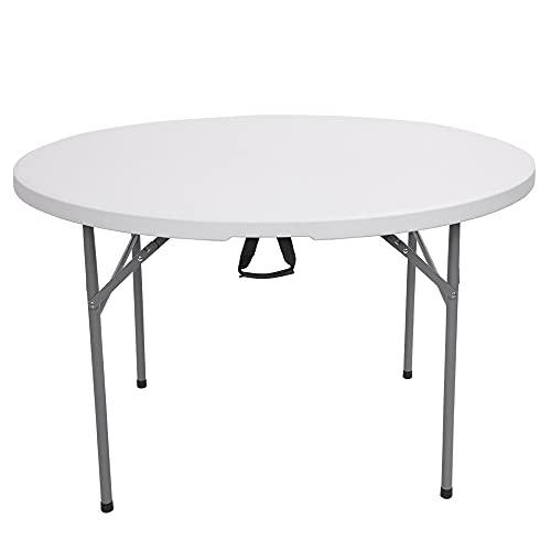JYXJJKK (British Direct Purche) Mesa plegable al aire libre plegable práctica mesa 48 pulgadas al aire libre patio plegable mesa redonda muebles de ocio al aire libre
