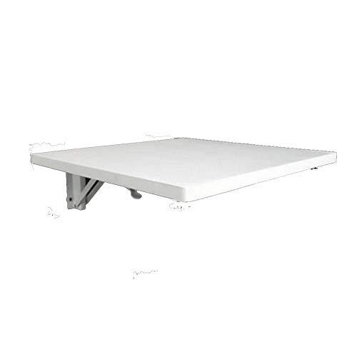 LLA Opvouwbare Tafel Wandmontage Drop-Leaf Tafel, Inklapbare Keuken Eettafel Bureau Aluminium Wit 100 x 40 cm.