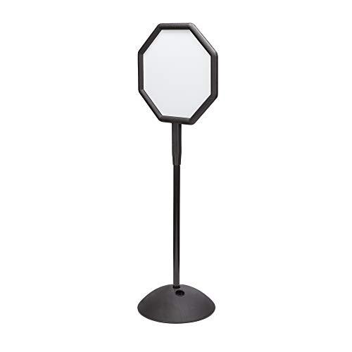 Safco Whiteboard-Schild, achteckig - schwarz