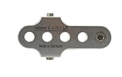 Brand Kurbelarmverkürzer FA E 4/25 Links extra breit für E-Bikes und Pedelecs bei Knie-Behinderung, Farbe:Silber