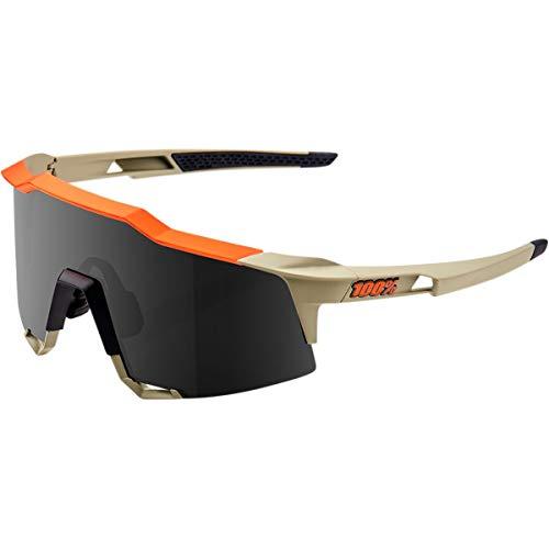100%, Occhiale SPEEDCRAFT Soft Tact Quicksand, Smoke Lens Unisex adulto, Ocra, Taglia Unica