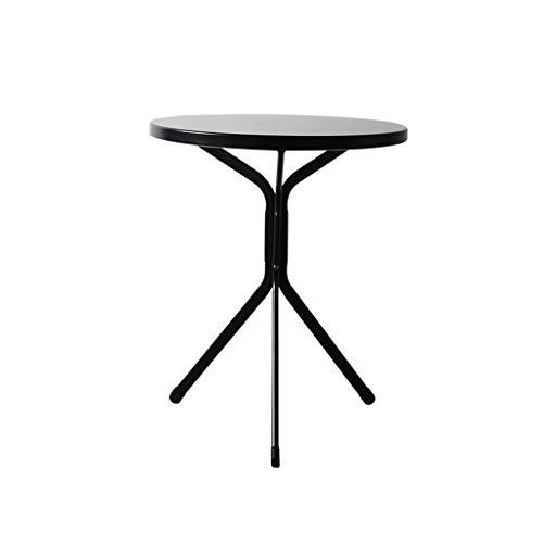 Xu-table smeedijzer, koude drank, winkelkoffie, laptop, ronde tafel, kleine woning, yard-decoratie, ontbijttafel,