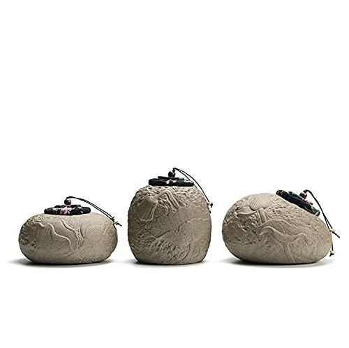 LANLANLife Vaso di Cibo in Ceramica, con Un Coperchio in Legno sigillato, può emettere Una Nuova fragranza