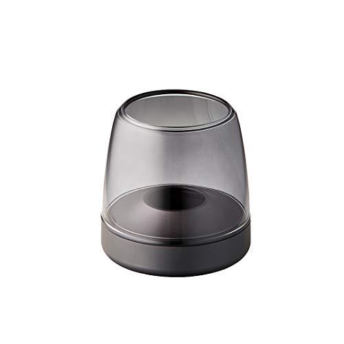 Kooduu Glow 10 - Lanterna in vetro di lusso - Portacandela - in vetro e alluminio - Design danese - da utilizzare con candela a LED Shine - Ø 9,4 cm - H 9,3 cm - Grigio
