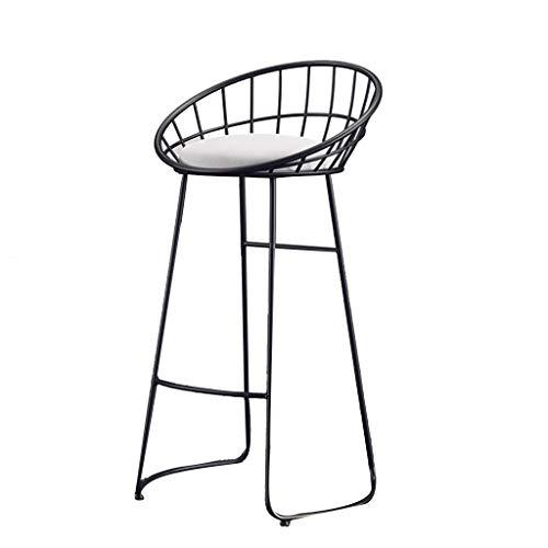 SZQ Bar, smeedijzer, stoel, gouden creatiekruk, hoge afdeling, bioscoop, café, barstoel, met pedaal 75CM Een