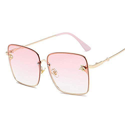 BUYAOAQ Große Eckige Sonnenbrillenmänner- Und Damen-Promi-Sonnenbrillen, Weibliche Farbe, E