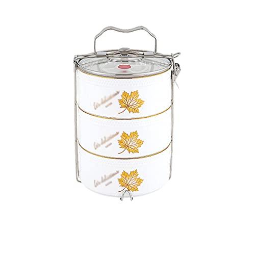 WM home Caja de Almuerzo de cerámica Caja de Almuerzo calentable Partitionó la Caja de Almuerzo sellada Fresca de Almuerzo Caja de Almuerzo Reutilizable para Estudiantes Adultos (Color : B)