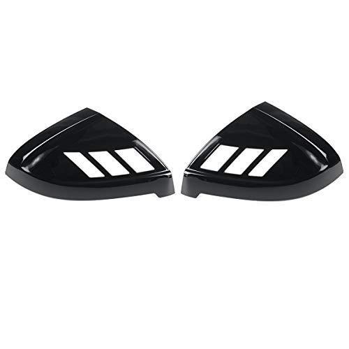 DSEB Tapa de Espejo retrovisor, para Audi A4 S4 RS4 A5 S5 RS5 Todos los Modelos 2017-2020 2pcs Cubierta de la Puerta del Lado del Coche Agregar en la página Mrror Cubiertas Trim,Glossy Black