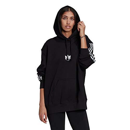 adidas OS Hoodie Hooded Sweat, Black, 40 Womens
