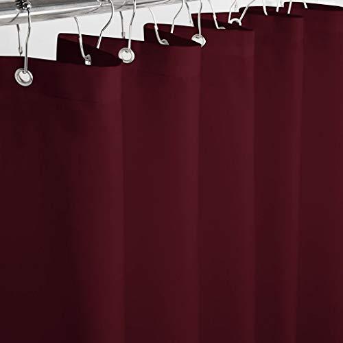 Eforcurtain Duschvorhang, strapazierfähig, reinweiß Modern 60Wx72L rot