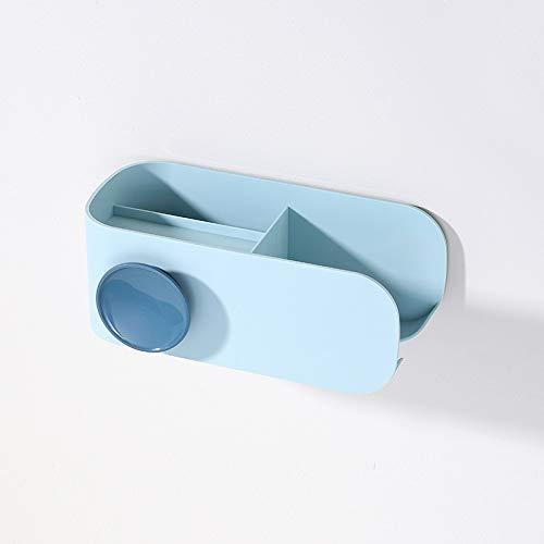 MEICHENG-DZ Erfrischendes Nordic ABS Wand Fönhalter Drainage Rack-Shelf Hauptspeicherorganisator Bad-Accessoires for Comb Kosmetik einfach (Color : Blue)