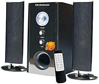 Olsenmark High Power 2.1 Professional Speaker - Multimedia Speaker System with Subwoofer - USB/SD/FM/BT/ – LED Display Spe...