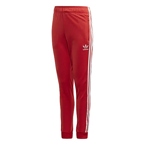 adidas Kinder Superstar Pants Sport Trousers, Lush red/White, 1314Y