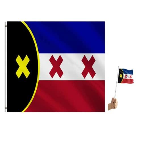 3x5 Fuß 100D PolyesterLmanburg Flagge Independence Dream SMP L'manburg Fahne mit Knopfloch, geeignet für SMP Fanartikel, Außen- & Innendekoration Banner & 10 kleine Lmanburg Fahnen
