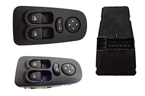 Botón elevalunas para Lancia Y Ypsilon 843 de 2003 a 2011 Interruptor teclado elevalunas con espejos eléctricos delanteros izquierdo