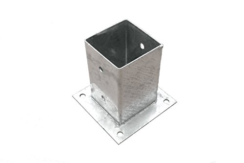 Unbekannt Pfostenträger Pfostenhülse Aufschraubhülse verzinkt 91x91x150 mm