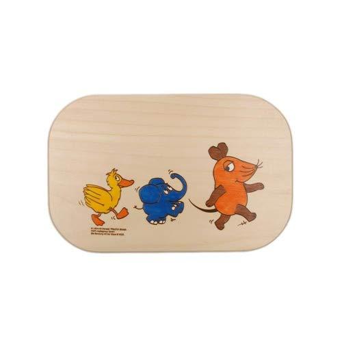 Brink Holzspielzeug Frühstücksbrett 'Sendung Maus' Holz Frühstücksbrettchen mit kostenloser Namens-Gravur Vesper Brett