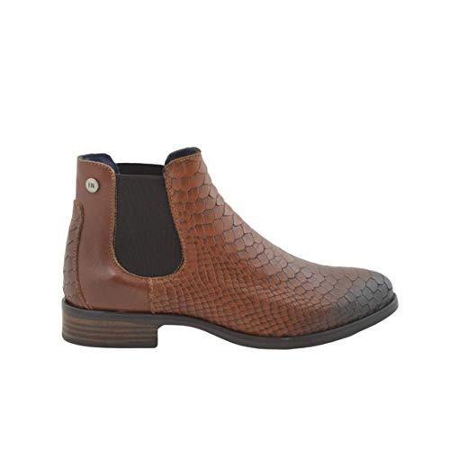 Brandy Stiefel aus Krokodil-Leder, Braun - Brandy - Größe: 38 EU