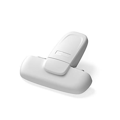 10 Piezas de hogar Refrigerador Congelador bloqueo cerradura de puerta Atrapados Gabinete de bloqueo de bloqueo de seguridad libre de roturas, deformación y duradero (Color : White)
