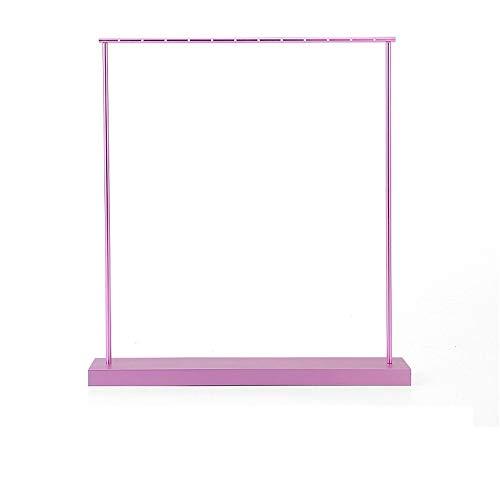 Unbekannt Modeschmuckständer Mode-Metall-Schlauch-Rack Schmuckständer Armband-Ohrring-Ring-Rahmen Mode (Farbe : Rosa, Größe : 29 * 5 * 31.5cm)