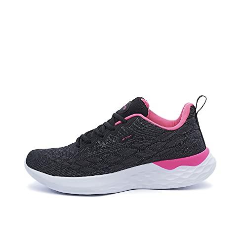 ATHIX Progressive Flexy - Zapatillas de Correr para Mujer, Negro (Negro/Rosado), 41 EU - Zapatillas Deportivas, cómodas y Transpirables