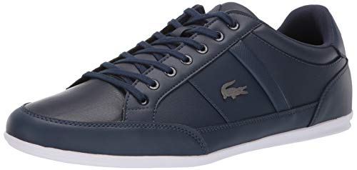 Lacoste Mens Chaymon Sneaker, Navy/White, 10 Medium US