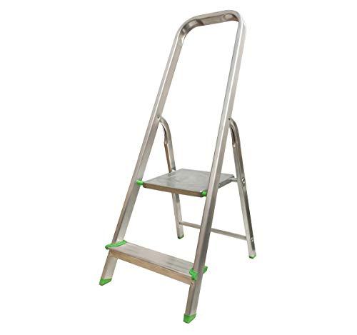 Escalera Tijera Plegable 2 Peldaños en Aluminio. Hecho en Europa