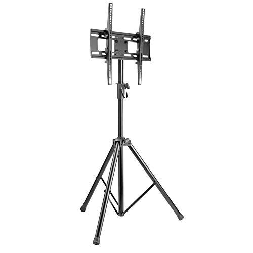 RICOO FS0844, TV Fernseher-Ständer Höhenverstellbar Neigbar, 32-55 Zoll (81-140cm) bis 35-kg Flachbildschirm-Halterung Tripod Stand-Fuß, VESA 400x400