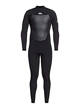Quiksilver Mens 4/3 Syncro Back Zip Wetsuit - Black/Silver   XL