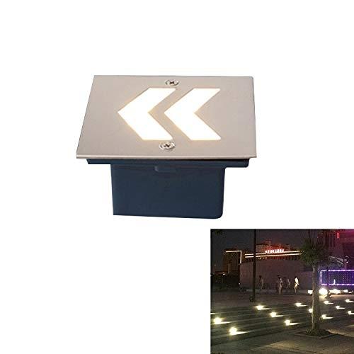 Lumière souterraine Éclairage extérieur encastré Buried Arrowhead White Style 1W LED intégré Fondation Sign côté Mur Lampadaire, Taille: 105x105cm [ZRx]