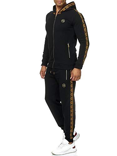 Red Bridge Herren Jogginganzug Sweat Suit Set Jacke Hose R-Logo Premium M2157-M4237 Schwarz XL