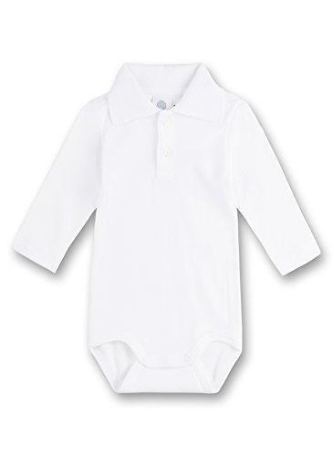 Sanetta - Body con Cuello de Polo de Manga Larga para bebé, Talla 9 Meses (74), Color Blanco 010