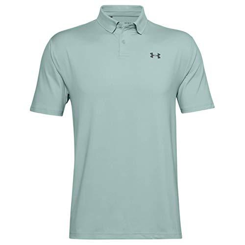 Under Armour Herren Polo Performance strukturiertes Poloshirt, Enamel Blue//Pitch Gray (477), L, 1342080-477