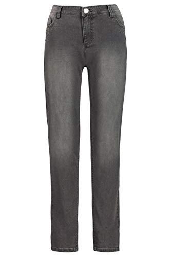 GINA LAURA Damen Jeans Julia, Ziernieten, schmale 5-Pocket Grey 44 724925 93-44