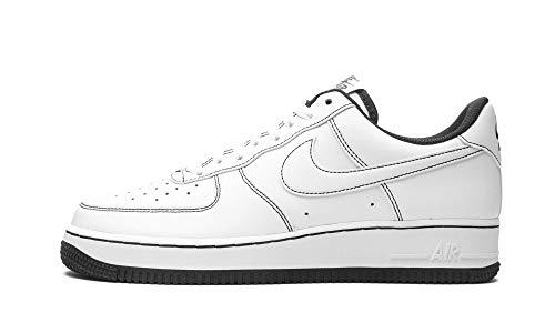 Nike Air Force 1 '07, Zapatillas de bsquetbol Hombre, White White White Black, 42 EU