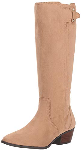 Dr. Scholl's Shoes Women's Brilliance Calf Knee High Boot, toasted coconut microfiber, 6 Medium/Wide Shaft US