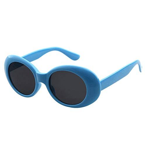 Cosanter - Ellittici Occhiali Da Sole Classico Uomo Donna Unisex Design Retrò Accessori Drive All'aria Aperta Spiaggia(#grigio-1)