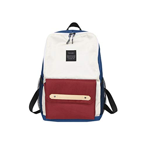 YX Schultertasche klassischen Casual College-Stil Rucksack Dame Mode Leinwand Handtasche Monochrom Reise im Freien