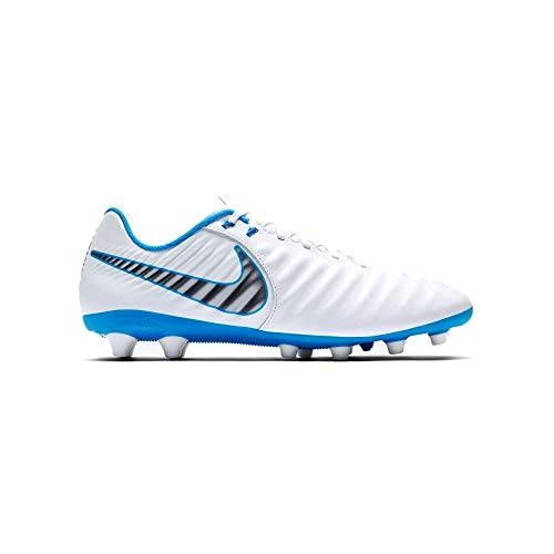 Nike Herren Tiempo Legend 7 Academy AG PRO Fußballschuhe, Weiß (White/Chrome-Blue Hre 107), 42.5 EU