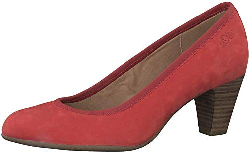 s.Oliver Damen Pumps 22425-24, Frauen Klassische Pumps, stöckelschuhe weibliche Lady Ladies feminin elegant Women's Women Woman,RED,40 EU / 6.5 UK