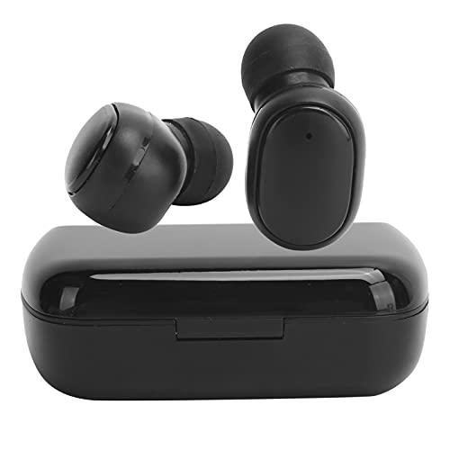 Auriculares inalámbricos Bluetooth 5.1 Auriculares internos, auriculares internos para llamadas binaurales con estuche de carga Pantalla de reloj Sonido estéreo para viajes de trabajo Pantalla(negro)