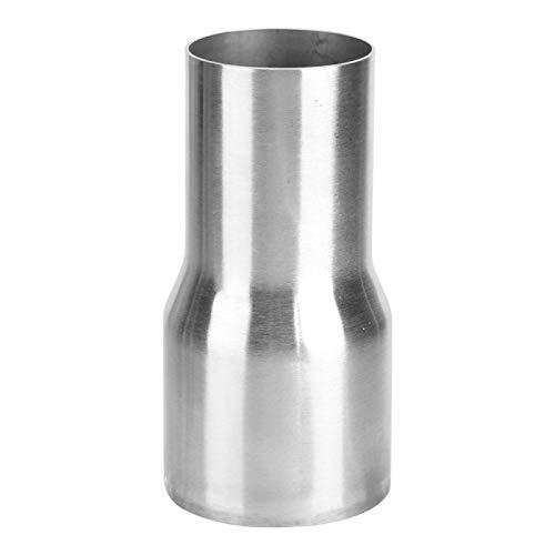 Adaptador de tubo de escape, Akozon Conector de tubo de escape Reductor de adaptador de tubo Con acero inoxidable para Universal(51-63MM)