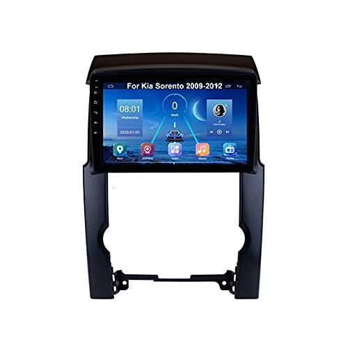 Autoradio Mit Navi Car Stereo Radio Coche Pantalla Tactil Coche GPS Navegación Para Kia Sorento 2009-2012 Conecta Y Reproduce Cámara De Respaldo Estéreo De Coche Auto Dvd Player