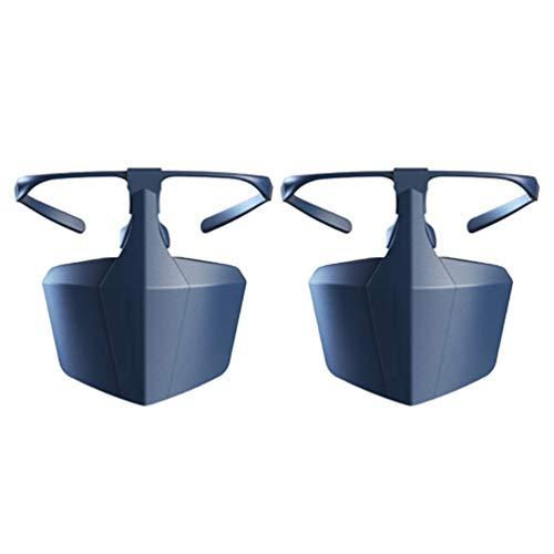 Exceart 2 Stück Sicherheitsgesichtsschutz Halbgesichtsschutz Schild Nase Und Mund Schutzhülle Speichelschutz Mas K Blau